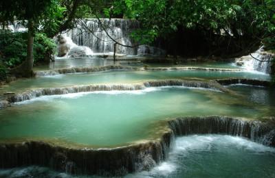 Luang Prabang Kuang Si waterfall